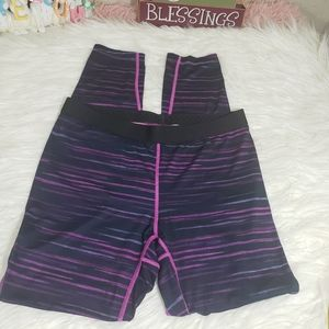 Columbia base layer midweight striped thighs